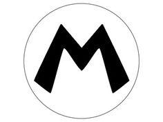 Mario & Luigi monograms and mustaches (free template printable)