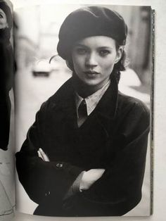 Kate moss early 1900's beret photo
