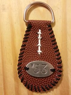 Personalized Football Keychain by PeanutsNCrackerjacks on Etsy, $15.00