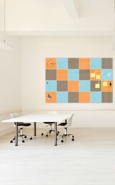 "Add beautiful color and pattern to your classroom or office while adding functional collaboration space with the Mosaic glass dry erase squares. Magnetic glass squares are 16""x16"" each and available in 6 versatile hues to compliment any decor."