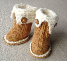 SnUGG Baby Booties Knitting PATTERN Tutorial by matildasmeadow, $5.00