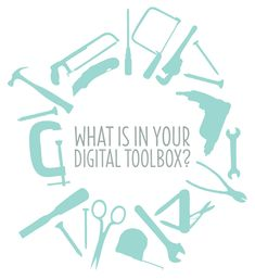 What is in your digital toolbox at oh my handmade.  Free digital resources