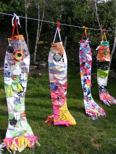 Recycled plastic art project ,art in schools, art ideas
