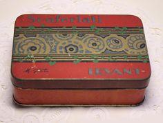 vintage french tobacco tin.