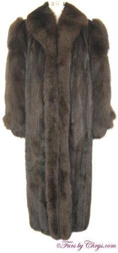Mahogany Mink and Brown Fox Coat Size Range: 6 - Price: SOLD, Excellent Condition Mink Coats, Mink Fur, Fox Coat, Fox Fur, Furs, Fur Trim, Shoulder Pads, Shawl, Range