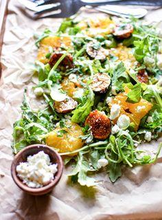 Caramelized Orange and Fig Salad: a light side dish or appetizer recipe!