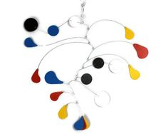 Calder Inspired, Mobile Art, Nursery Mobile, Playroom Mobile, Kinetic Art Mobile, Modern Mobile, Sculpture, Office Gift, Wedding gift
