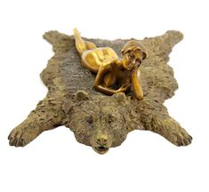 Vienna Bronze - Erotic Nude on Bear Rug – Bergmann Stamp