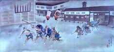 """Enlarged image of """"Edo 乃華"""" part (Hiroshige picture)"""
