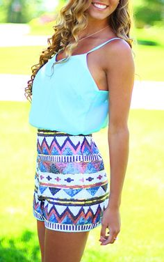 Tres Chic Tribal Romper - THIS ITEM IS FINAL SALE