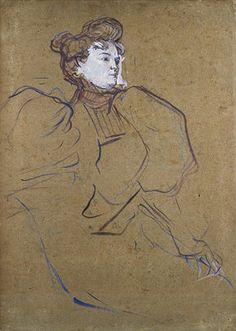 Portrait of Misia Natanson - Henri de Toulouse-Lautrec