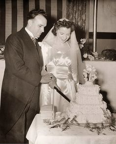 Wedding Reception of Irene and Jack, February 1946 at the Hotel Garde, Hartford, Connecticut.