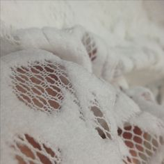 Tecido tela bordada inverno off white