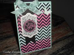 Positively Chevron For You - Tie-dyed Embossed Technique (thanks Bec Ross)