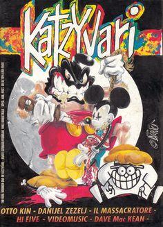 Katzyvari. The real number on of Katzyvari - Anno 1 gennaio/febbraio 1993 Bimestrale. Immagine di copertina di Diavù Hi Five, Number One, Comic Books, Comics, Cover, Art, Craft Art, Comic Strips, Slipcovers