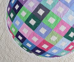 Optical Illusion Modern Wall Hanging Quilt by GetaGrama on Etsy