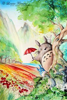 近日網友們在網路上瘋傳一系列的吉卜力水墨畫,像是龍貓、魔法公主、霍爾的移動城堡等充滿回憶的作品,皆出自這名來自