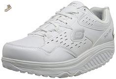 Skechers Women's Shape Ups 2.0 Perfect Comfort Fashion Sneaker, White/Silver, 10 M US - Skechers sneakers for women (*Amazon Partner-Link)