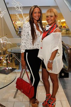 #socialites Sarah Chapman and Misa Hylton attend the Simone I. Smith Trunk Show at Neiman Marcus Atlanta on May 10, 2012 in Atlanta, Georgia.  Sip With Socialites  http://sipwithsocialites.com/