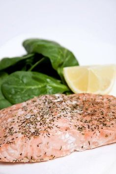 7 Best Post-Workout Dinner Ideas - Grilled Salmon over Spinach & Whole Wheat Couscous