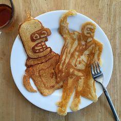 #bender cakes. #pancakeart #pancakes #breakfast #hedcakes