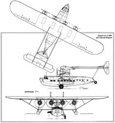 Sikorsky S-40 (1931) PanAm Flying Boat, Civil Aviation, Retro Art, Dieselpunk, Family Travel, Scale Drawings, Aircraft, Motorcycle Gear, Plans
