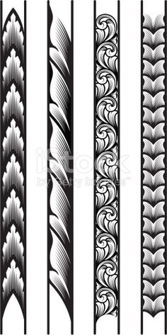 Designed by a hand engraver, these precisely drawn borders are constructed with each leaf or scroll segment on a seperate layer for easy manipulation. Make as long or short as you wish, and scale to...