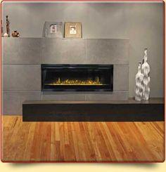 Foyer avec pierre Basement Fireplace, Stove Fireplace, Fireplace Design, Fireplace Ideas, Foyers, Modern Foyer, Furniture Placement, Furniture Styles, Kitchen Layout