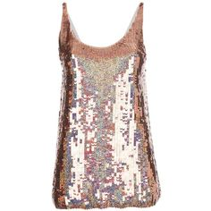 Stella McCartney Sequinned Tanktop ($500) ❤ liked on Polyvore featuring tops, shirts, tanks, tank tops, pink, sequin tank, silk tank top, pink sequin shirt, pink shirt and pink sequin tank
