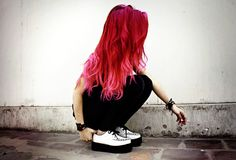 Red to pink ombre, maybe this is next? Just a bit darker on the red.