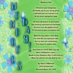 Ohio Treasure Box Writing And Song: Wondrous Day! Please Visit My Blog To View And print.  Audio Song Christian Poems, Born Again Christian, Audio Songs, Dinner Themes, Church Activities, March 1st, The Hard Way, A Blessing, Amazing Grace