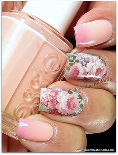Różana piękność na paznokciach // http://www.ubieranki.eu/