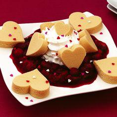 Raspberry Pound Cake Valentines