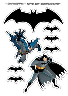 Free cool stuff for Superheroes Star Wars Angry Birds Minecraft Sonic Poké - Batman Printables - Ideas of Batman Printables - Free cool stuff for Superheroes Star Wars Angry Birds Minecraft Sonic Pokémon Lego Dr. Who and more themed parties for geeks. Batman Cake Topper, Batman Cakes, Cake Toppers, Batman Birthday, Batman Party, Superhero Party, Boy Birthday, Birthday Cakes, Birthday Parties