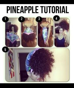 How to do: the Pineapple wrap  @CurlKit Curly By Nature #DIY