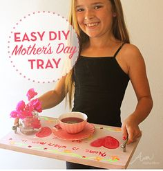 DIY Breakfast Tray - Mother's Day Crafts For Kids - Photos