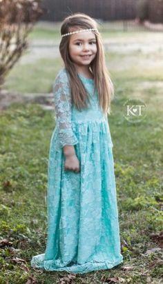 Flower girl boho dress