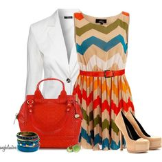 """""""Striped Dress and Blazer Contest"""" by angkclaxton on Polyvore"""