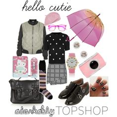 """""""Get Adorkable with Topshop: Contest Entry-hello cutie"""" by kc-spangler on Polyvore"""