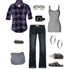 I'm in desperate search of a great fitting plaid shirt. Love this look (minus the shoes and bag)!