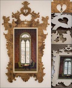 Laser cut plywood Baroque frame - stunning!