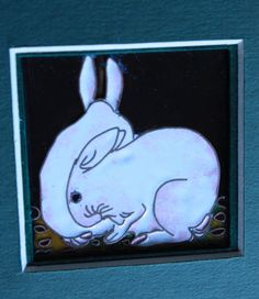 Contemporary Cloisonné Picture Two rabbits by CiliaWorkshop For more info please write an email to: judit_kovacs@hotmail.com