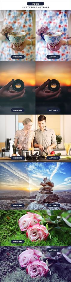 FIVE - Photoshop Action 2 by PSActionsONLY FIVE �20Photoshop Actions 2Easy to use! Effects for your Photography, Stock, Images etc..Share if your LIKE!