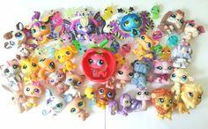 Littlest Pet Shop LARGE LOT 50 LPS Cats Dog Lion Snake Owl Snail Fairy RARE EUC #Hasbro