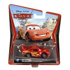 Disney Pixar Cars 2 Movie Die-Cast No. 3 - Lightning Mcqueen with Racing Wheels [1:55 Scale]