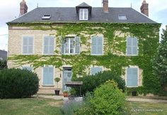 The house is what we call a maison de maître, the sort of grand house of the village.