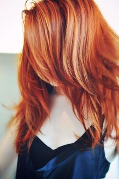 red hair with highlights and lowlights