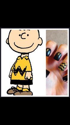 Cute Charlie Brown nails