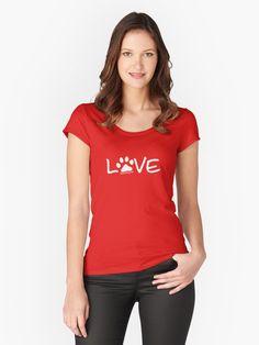 2cb01b5f5 Love Dog Paw Print (white reverse print) | Unisex T-Shirt