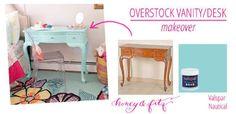 Overstock Vanity Desk Makeover